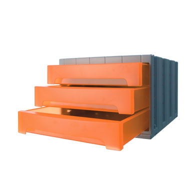 Módulo 3 cajones ArchivoTec 6000 naranja Archivo 2000 6003NATL