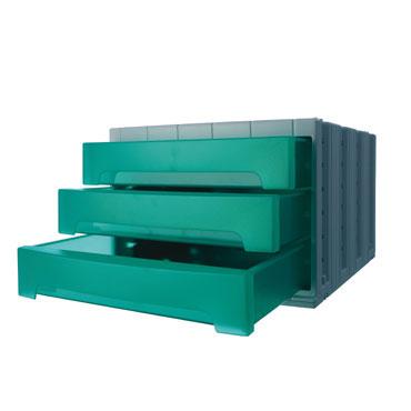 Módulo 3 cajones ArchivoTec 6000 verde Archivo 2000 6003VETL