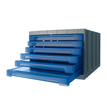 Módulo 6 cajones ArchivoTec 6000 azul Archivo 2000 6006AZTL