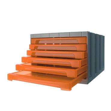 Módulo 6 cajones ArchivoTec 6000 naranja Archivo 2000 6006NATL