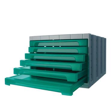 Módulo 6 cajones ArchivoTec 6000 verde Archivo 2000 6006VETL