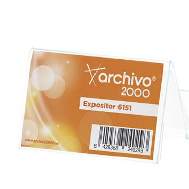 Portatarjetas 2 compartimentos Premium Archivo 2000 6151CSTP