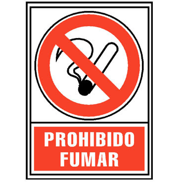 Placa PVC PROHIBIDO FUMAR 210x297 mm. Archivo 2000 6174-02