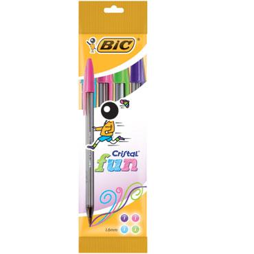 BL4 bolígrafos Cristal Fun Bic 8957921