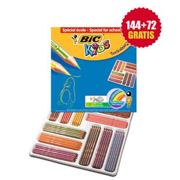 216 lápices de color Tropicolors 2 BIC 8971101