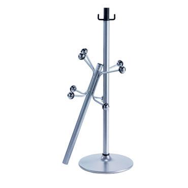 Perchero de pie gris plata Cilindro H12D-GR