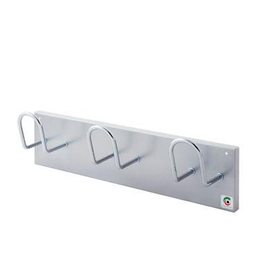 Perchero de pared 3 colgadores gris plata Cilindro H13-GR
