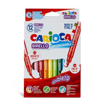 12 rotuladores de color doble punta Birello Carioca 41457