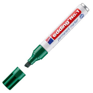 Marcador permanente edding nº1 verde 1-004