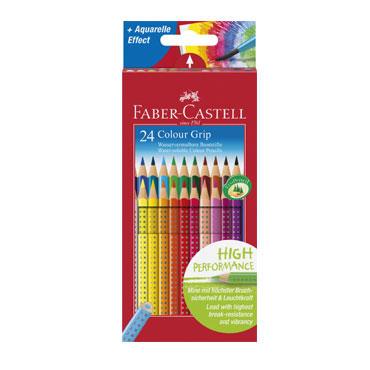 Estuche 24 lápices Grip color Faber Castell 112424