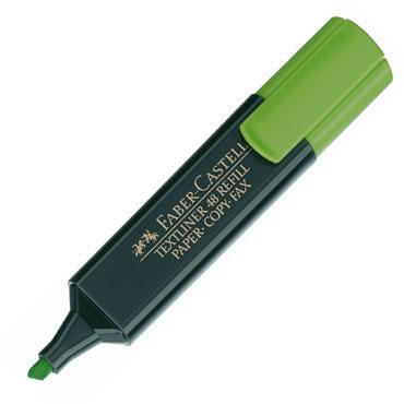 Marcador flúor Textliner verde Faber Castell 1548-63