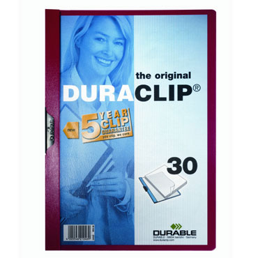 Carpeta Duraclip 30HJ Din A-4 rojo Durable 2200-03