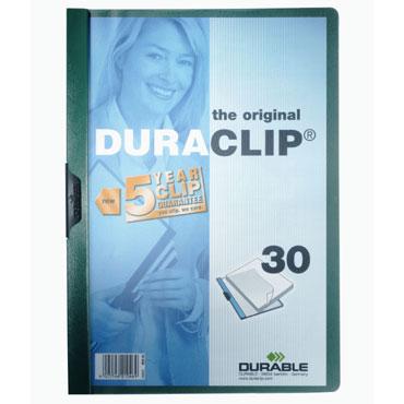Carpeta Duraclip 30HJ Din A-4 verde Durable 2200-32