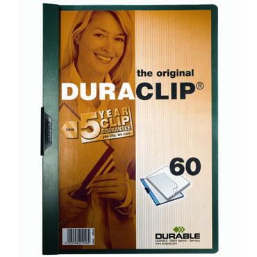 Carpeta Duraclip 60HJ Din A-4 verde Durable 2209-32