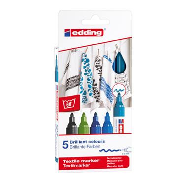 5 marcadores edding Textile colores fríos 4500 4500-5S-099