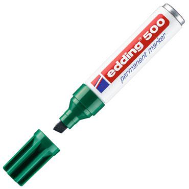 Marcador permanente edding 500 verde 500-004