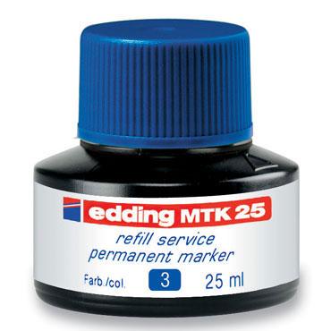 Frasco tinta MTK25 azul edding MTK25-003