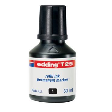 Frasco tinta T25 negra edding T25-001