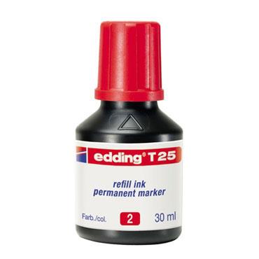 Frasco tinta T25 roja edding T25-002