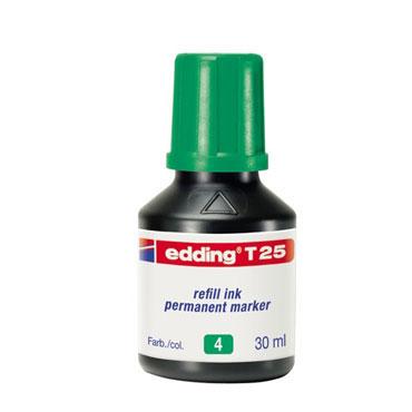 Frasco tinta T25 verde edding T25-004