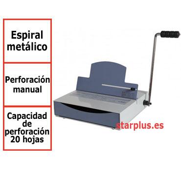 Encuadernadora Mustang 51 manual  de espiral metálico 13006