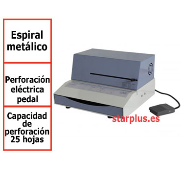 Encuadernadora Mustang 51E eléctrica  de espiral metálico 13007