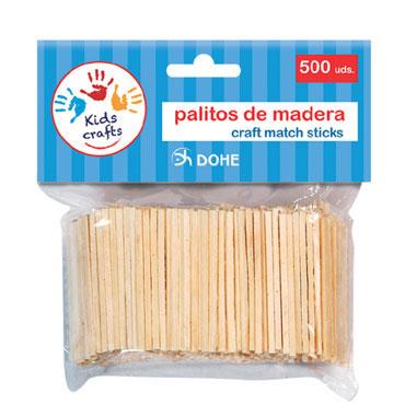 500 palillos madera 2,5 x 50 mm. Dohe 18106