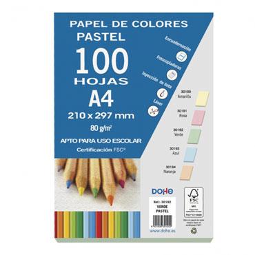 100 hojas papel verde 80 g/m² Din A-4 Dohe 30192