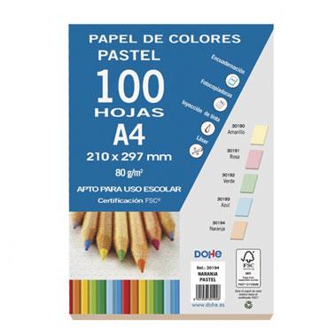 100 hojas papel naranja 80 g/m² Din A-4 Dohe 30194