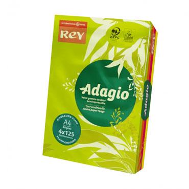PQ500 papel 4 colores flúor 80 g/m² Din A-4 Adagio 30235