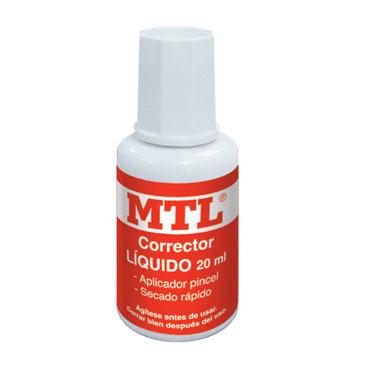 Corrector con pincel 20 ml. MTL 30273