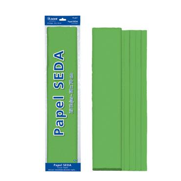 25 hojas papel seda verde 50x70 cm. Dohe 30311