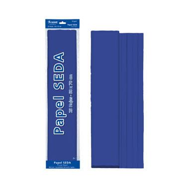 25 hojas papel seda azul 50x70 cm. Dohe 30312