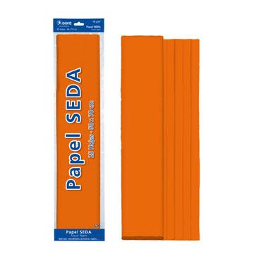 25 hojas papel seda naranja 50x70 cm. Dohe 30315