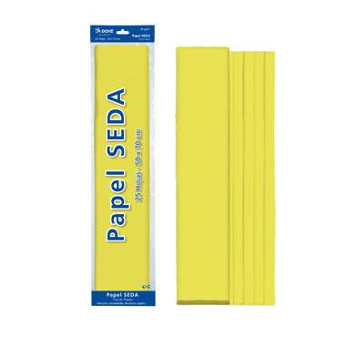 25 hojas papel seda amarillo 50x70 cm. Dohe 30316