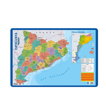 Lámina escolar Mapa de Cataluña 10801183