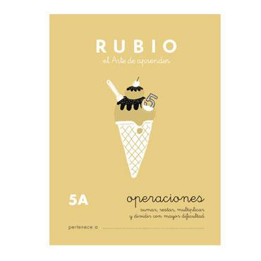 Cuaderno Rubio A5 Operaciones y Problemas Nº 5A 12602041