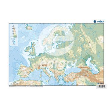 50 láminas color Europa físico 21601050