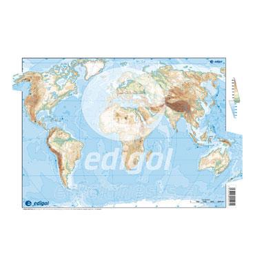 50 láminas color Mapamundi físico 21601052