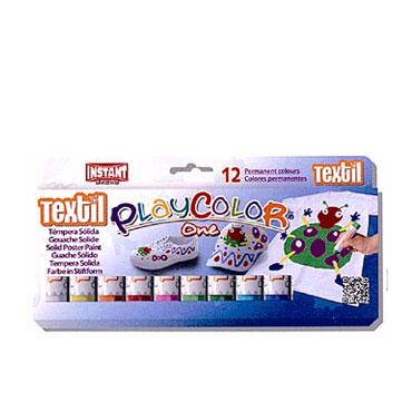 12 barras témpera textil 5 g. Instant Playcolor 10561