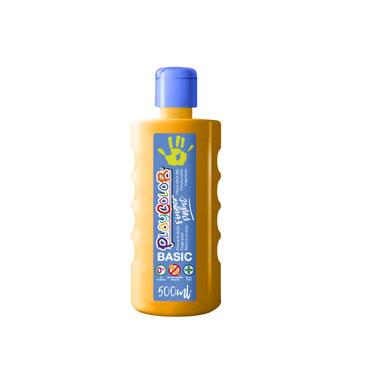 Bote 500 ml. pintura de dedos naranja Playcolor 17731