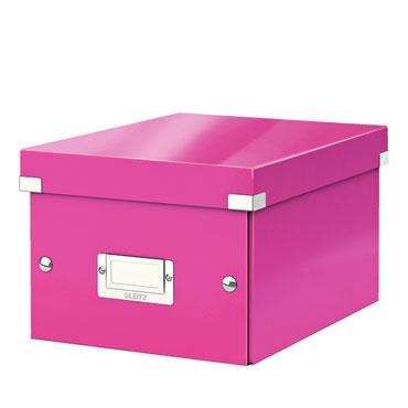 Caja Click & Store 20 DVD's fucsia Leitz 60420023