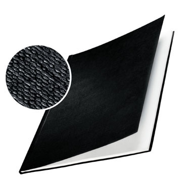 10 tapas ImpressBind rígidas gofrado lino negro D Leitz &73940095
