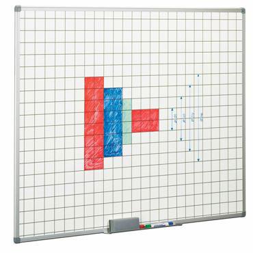 Pizarra blanca estratificada cuadriculada 122 x 100 cm. Faibo &11CF-3T