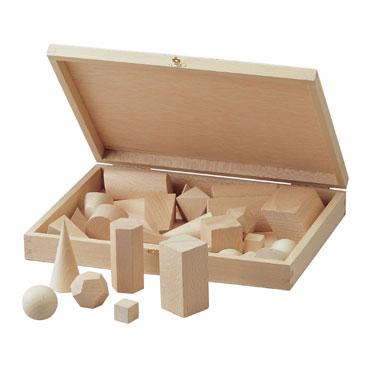 6 cuerpos geométricos con cubo de 4 cm. Faibo 125