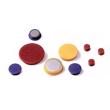 20 imanes redondos 10 mm. amarillos Faibo 56-10-05
