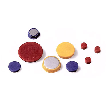 20 imanes redondos 10 mm. rojos Faibo 56-10-03
