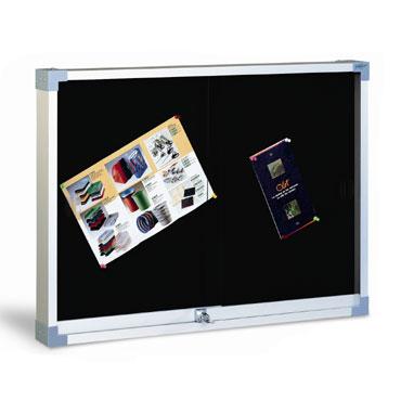 Vitrina de corcho tapizada negro 90x120 cm. Faibo 604T-3N