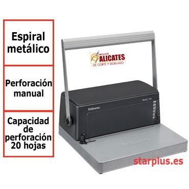 Encuadernadora espiral metálico Fellowes Metal 100 0030102