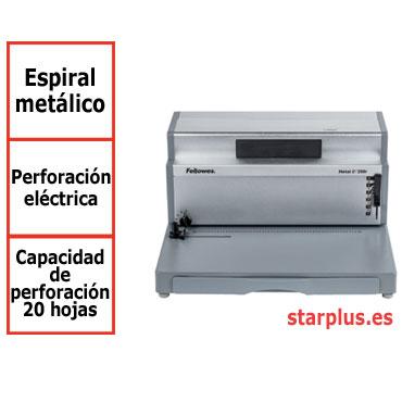 Encuadernadora espiral metálico Fellowes Metal E200R eléctrica 0037702